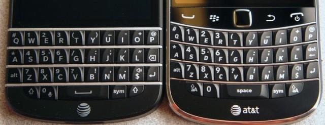 q10 vs 9900 keyboard