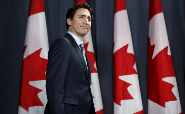 Canada's Prime Minister Justin Trudeau arrives at a news conference in Ottawa, Canada November 12, 2015. REUTERS/Chris Wattie