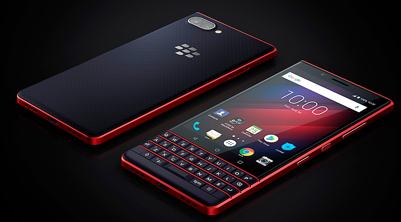 BlackBerry Key2 LE atomic red